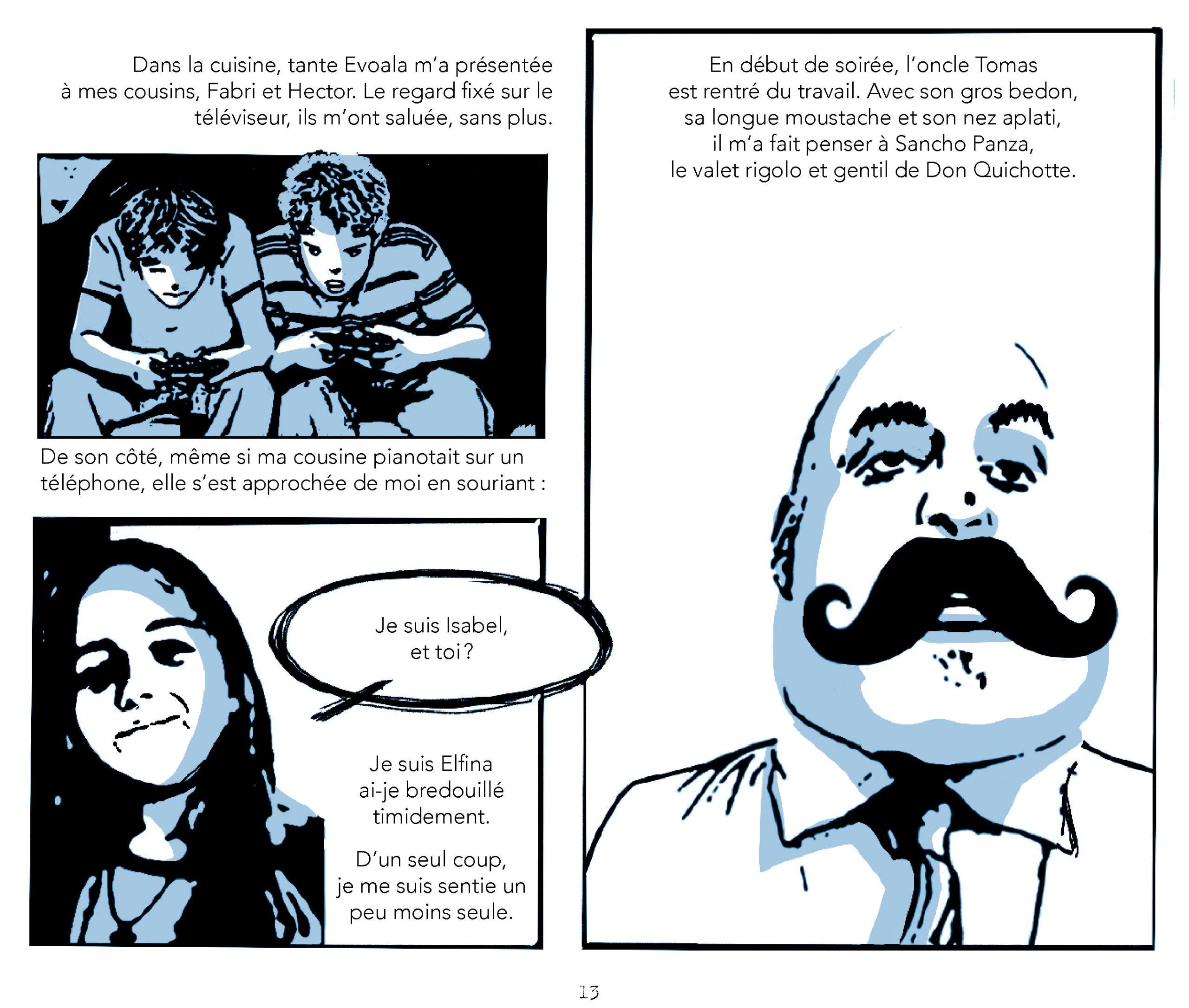Extrait de Les quatre saisons d'Elfina - Éditions de l'Isatis