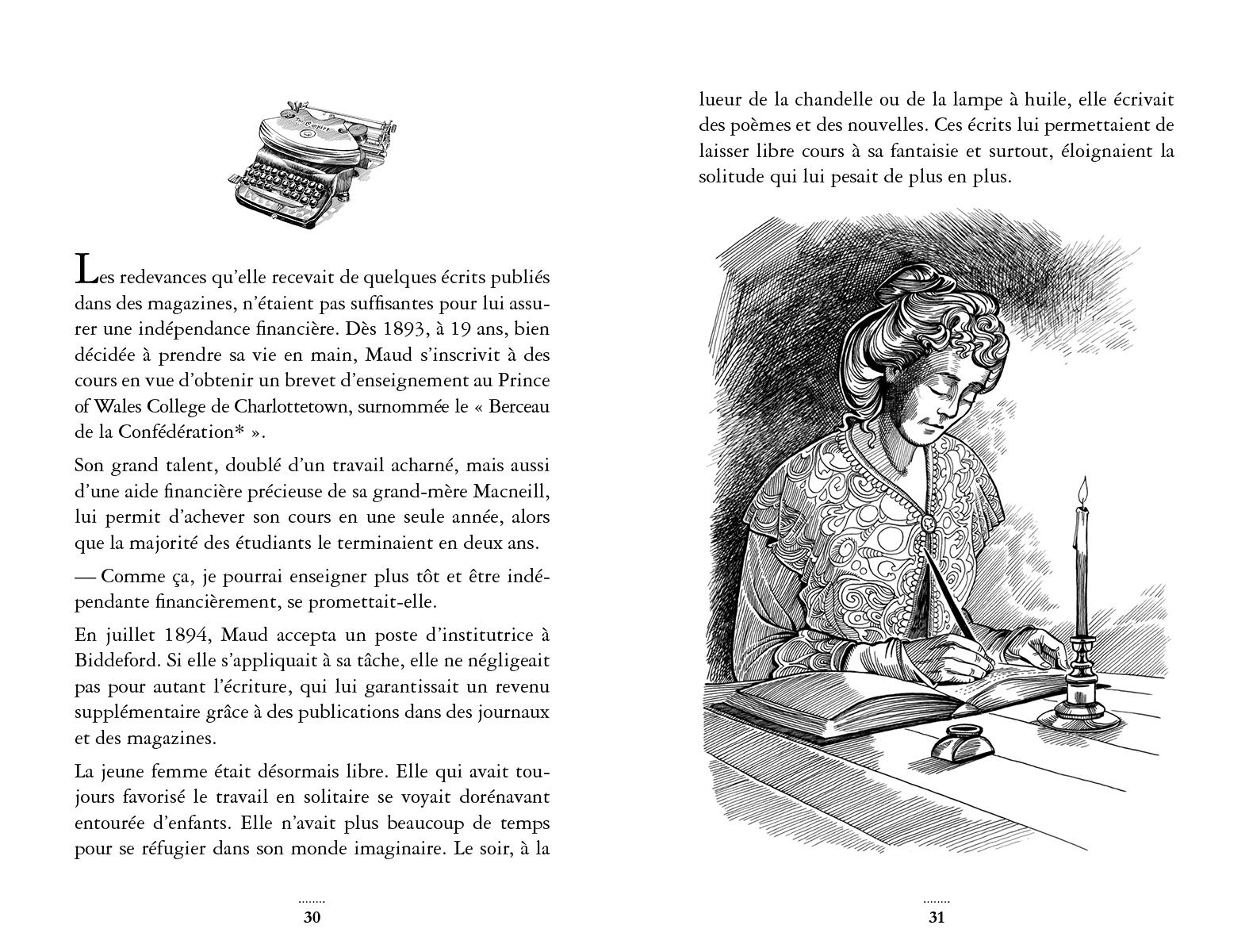 Extrait de Lucy Maud Montgomery - Éditions de l'Isatis