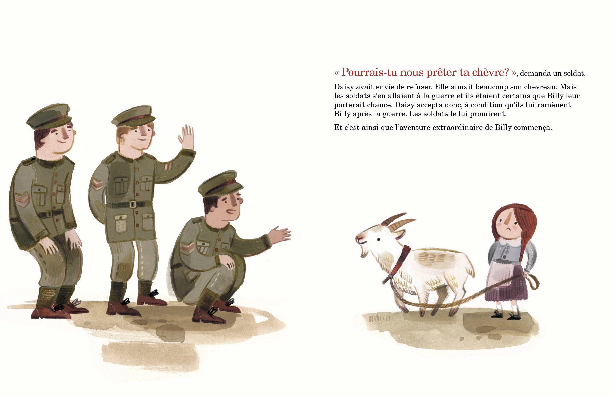 Extrait de Sergent Billy - Éditions de l'Isatis