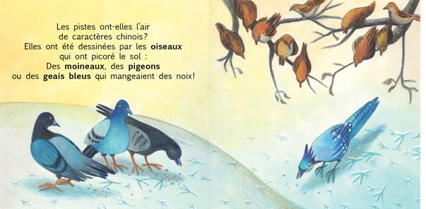 Extrait de Petits pas dans la neige - Éditions de l'Isatis